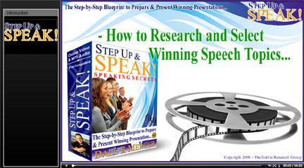 Good research speech topics